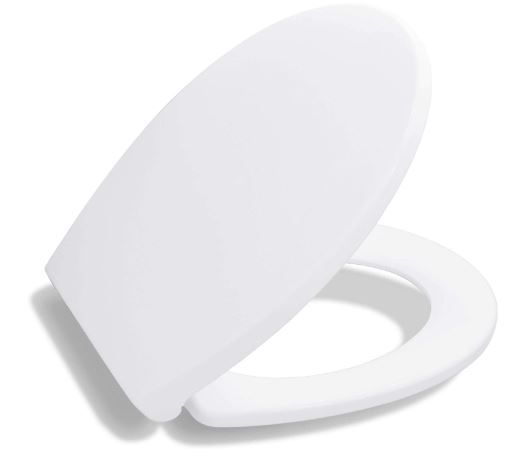 BATH ROYALE BR620-00 Premium Round Toilet Seat with Cover