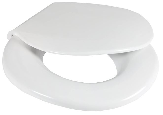 Big John Toilet Seat 2445646-1W Closed Front with Cover