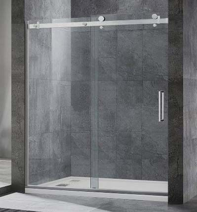 Single-sliding Frameless Shower Doors