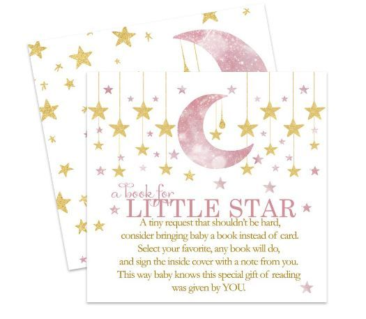 Twinkle Little Star Bring a Book for Girls Baby Shower