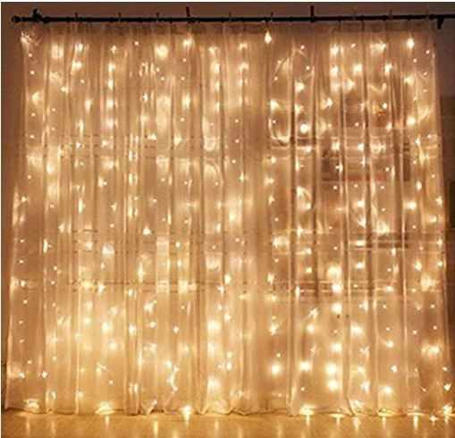Twinkle Star 300 LED Window Curtain String Light Wedding Party Home Garden Bedroom Outdoor Indoor Wall Decorations