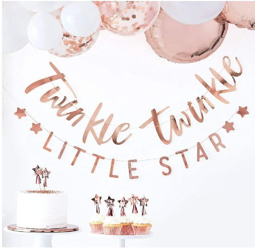 Twinkle Twinkle Little Baby Shower Bunting Party Decoration