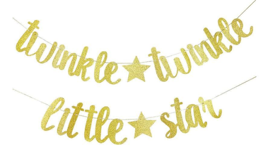 Twinkle Twinkle Little Star Banner Birthday Party Baby Shower Party Decorations