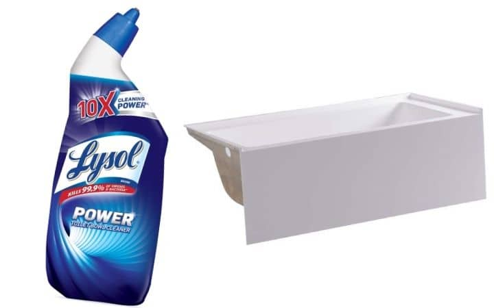 Use Toilet Bowl Cleaner on A Bathtub (1)